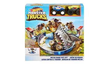 Hot Wheels® Monster Trucks Mecha Shark Face-Off Play Set