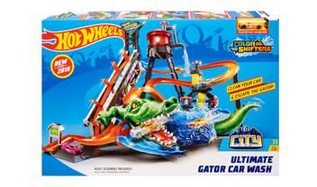 Hotwheels Color Shifters Ultimate Gator Car Wash Playset