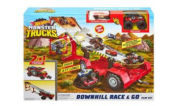 Monster Trucks Downhill Race & Go Play Set