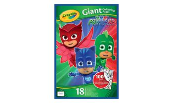 Giant Coloring pages & stickers PJ Masks